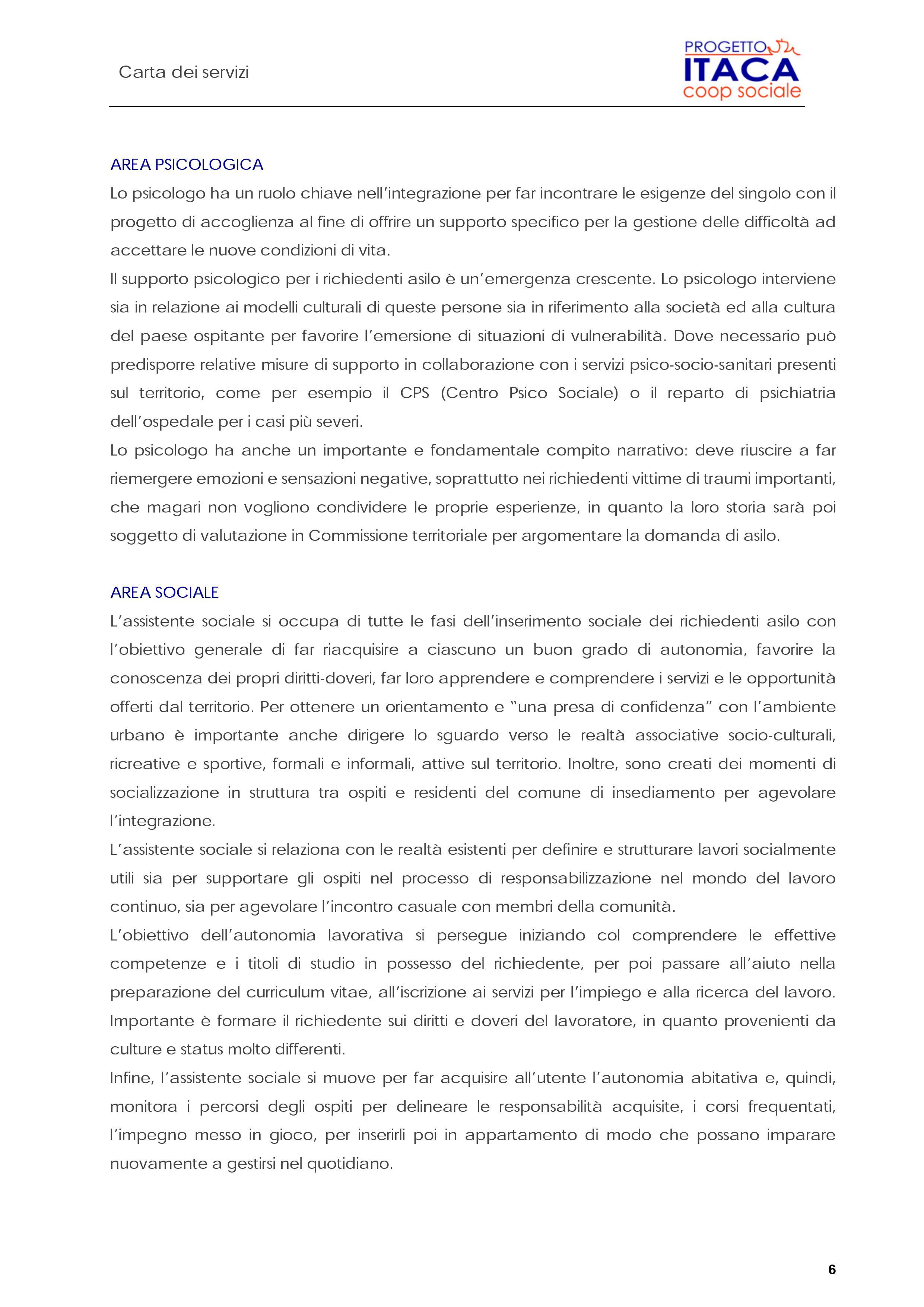Carta dei Servizi pag. 7