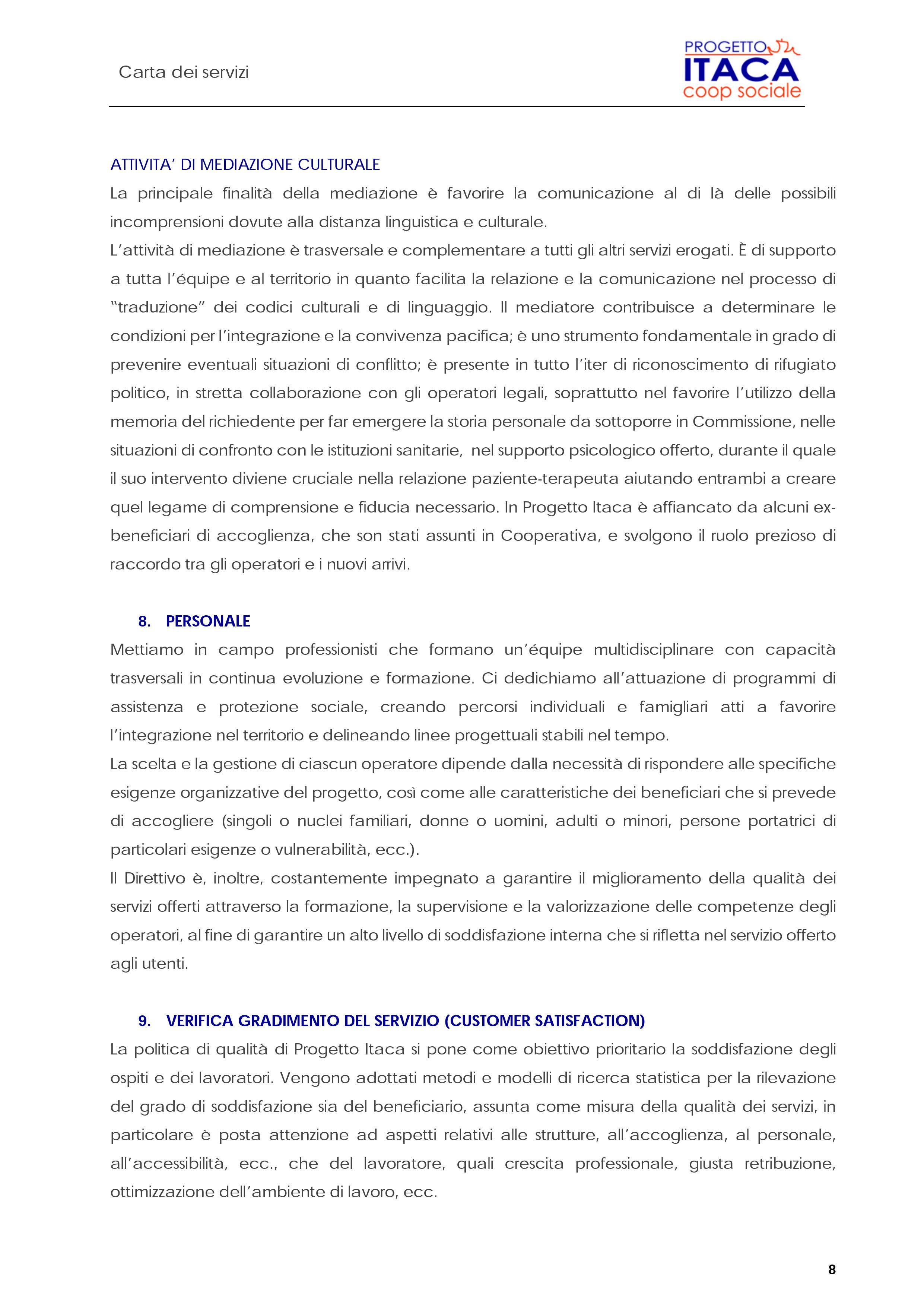 Carta dei Servizi pag. 9