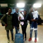 In aeroporto in partenza per la Finlandia.