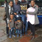 La famiglia di Seleme ed Ezra in partenza per Roma.