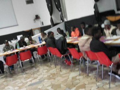 A pranzo con la Caritas di Valmadrera.