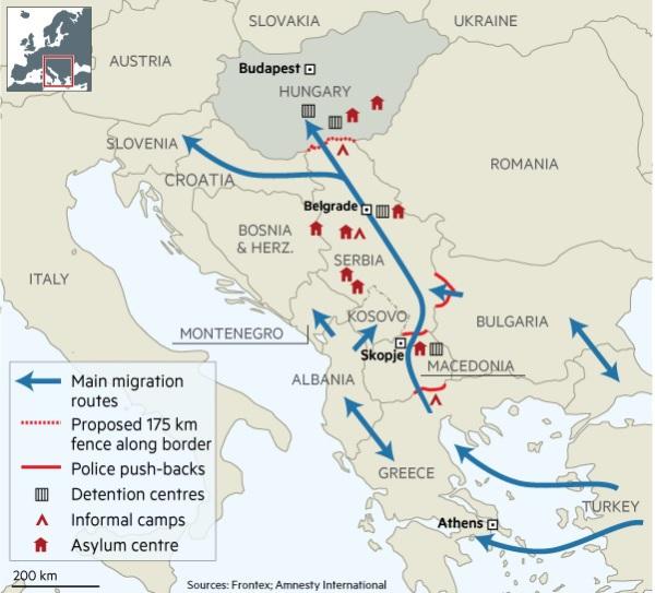 Le rotte migratoria dell'europa dell'Est